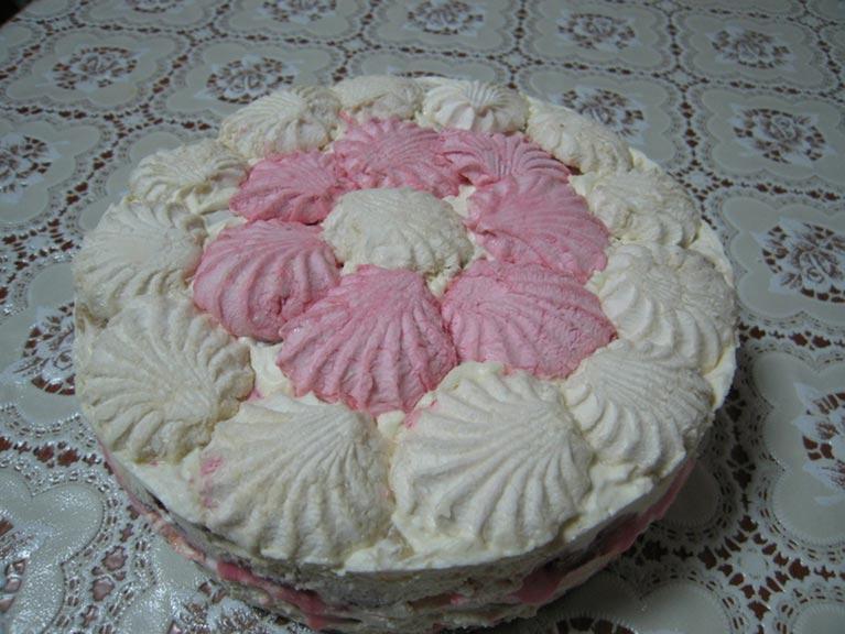 Соседка дала рецепт торта с зефиром. 15 минут и готово, даже не нужно выпекать!